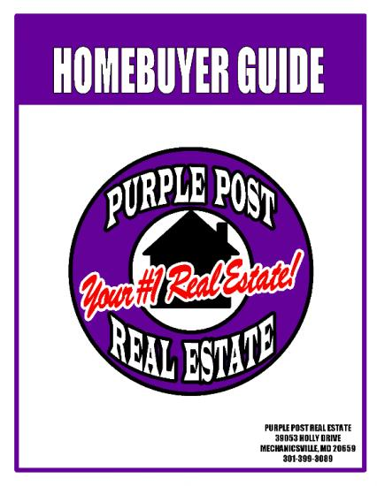 FREE HOMEBUYERS GUIDE!!!